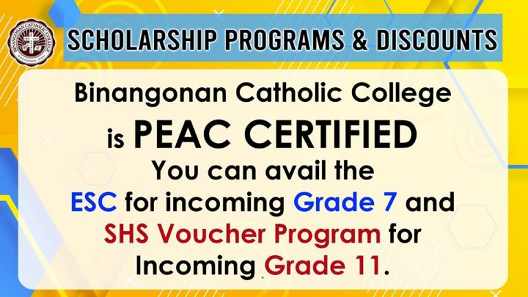 Scholarship Programs & Discounts is PEAC CERTIFIED