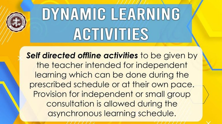 Dynamic learning Activities