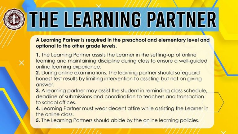 The Learning Partner for Preschool, Elementary and optional for other grade levels