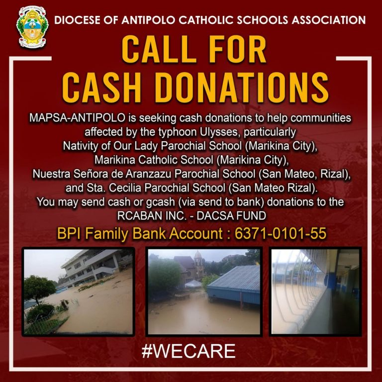 Call for Cash Donations
